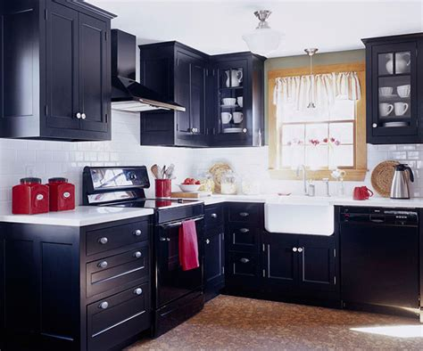 small kitchen with black cabinets modern furniture small kitchen decorating design ideas 2011
