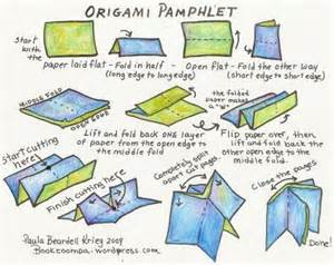 how to make a origami book origami booklet playful bookbinding and paper works