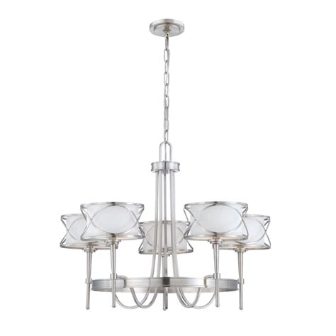 chandeliers home depot canada eurofase collection 5 light brushed nickel chandelier