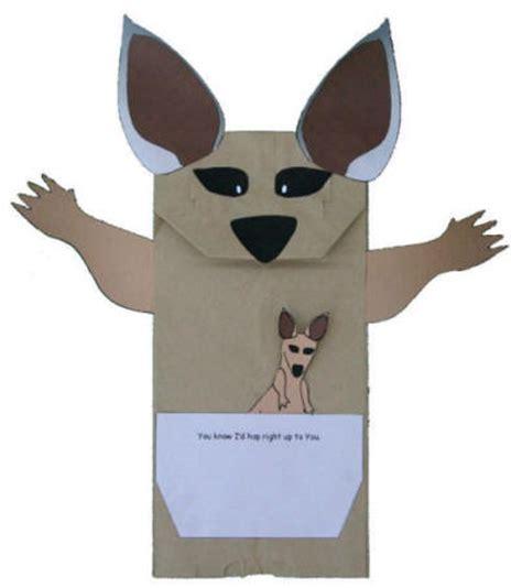 kangaroo craft for kangaroo paper bag puppet memes