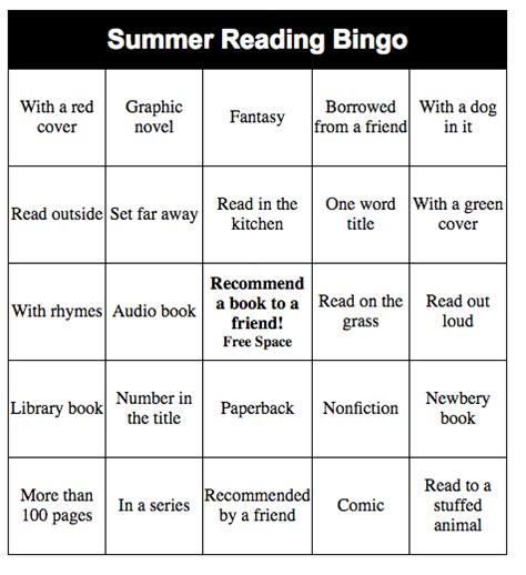 make your own bingo cards make your own summer reading bingo from the mixed