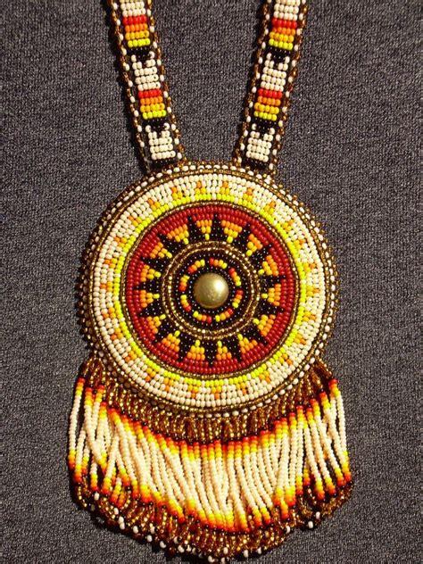 beaded medallion beaded medallion rosette lakota american by