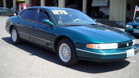 how cars work for dummies 1995 chrysler concorde regenerative braking 1995 chrysler lhs sold youtube