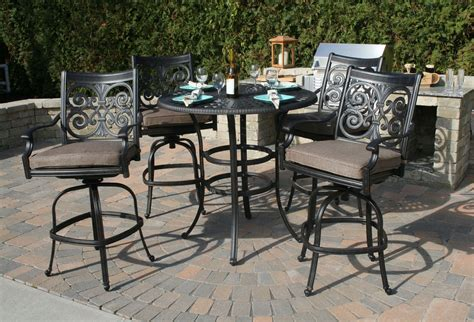 bar height patio set with swivel chairs bar height patio set with swivel chairs 17382