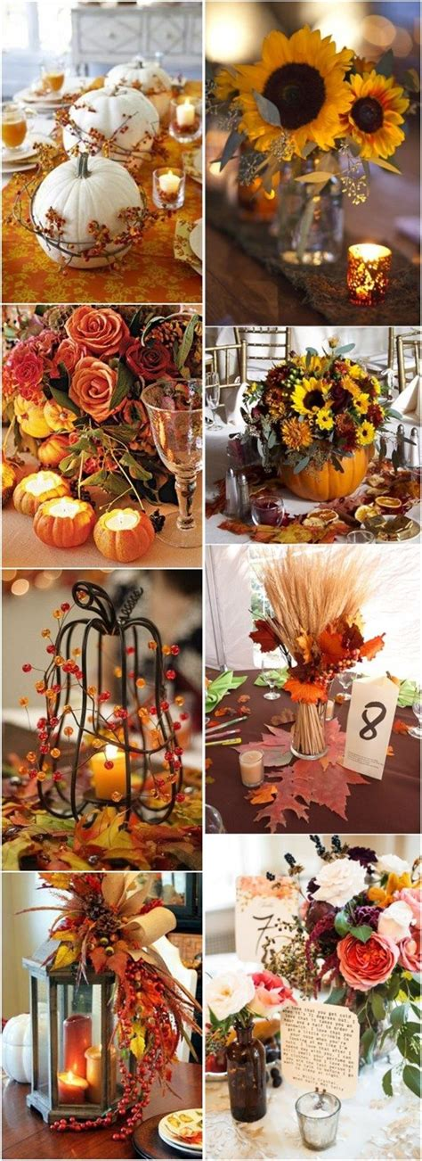 autumn wedding centerpieces for tables fall wedding inspiration simple elegance by