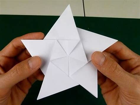 5 step origami folding 5 pointed origami ornaments