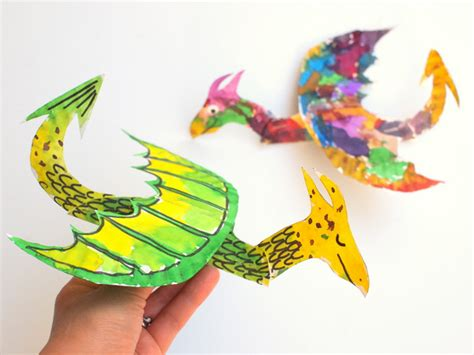 flying crafts for how to make colorful and flying paper plate dragons