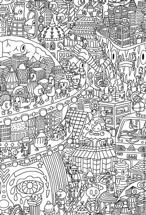 doodle lã sung doodles coloriages difficiles pour adultes coloriage