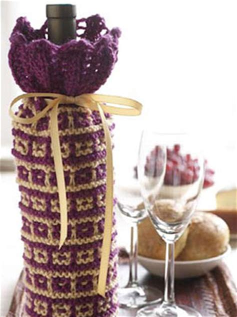 knitting pattern for wine bottle cover knitted wine bottle cover patterns a knitting