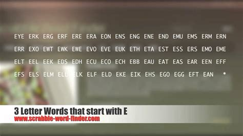 scrabble words beginning with e 3 letter words that start with e