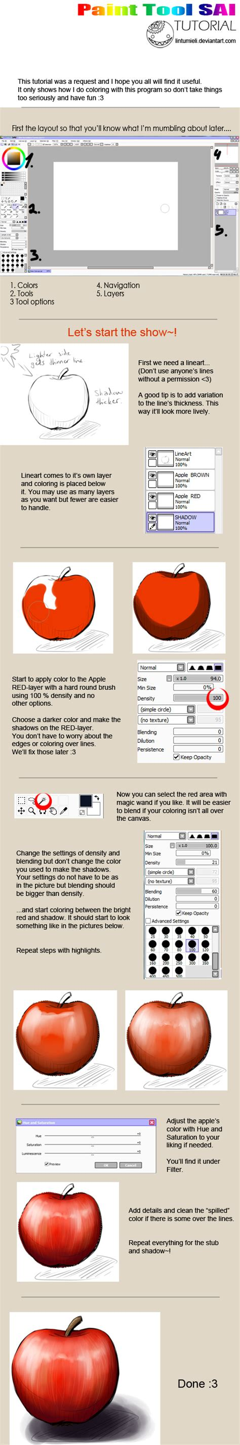 paint tool sai tutorial paint tool sai coloring tutorial by lintumieli on deviantart