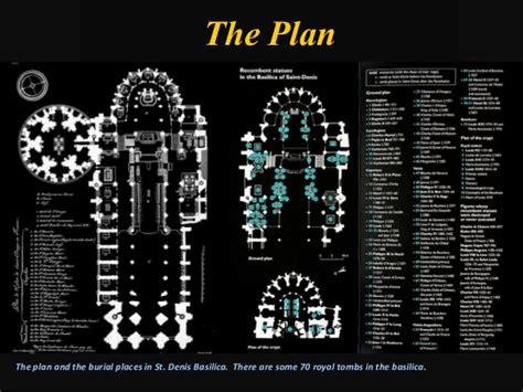 App Floor Plan st denis paris the beginning of the gothic architecture