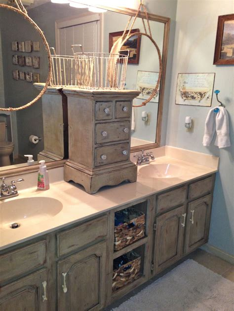 Bathroom Cabinet Makeover Ideas by Bathroom Vanity Makeover With Sloan Chalk Paint