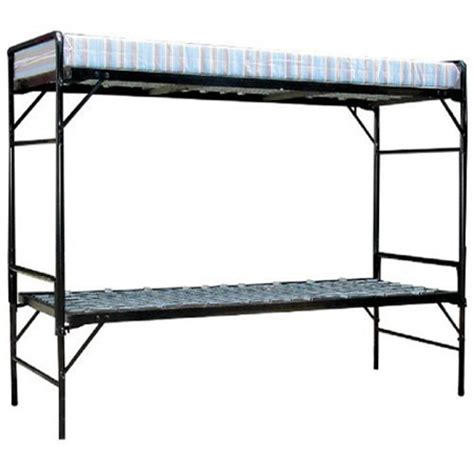 institutional bunk beds blantex army style bunk bed set iron construction
