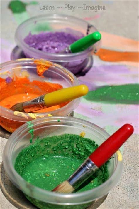 diy chalk paint cornstarch cornstarch free sidewalk chalk paint recipe learn play