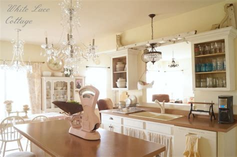 chandeliers for the kitchen chandeliers shabby kitchen white lace