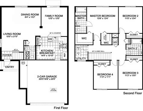 family floor plans awesome single family house plans 11 one story single family home floor plans smalltowndjs