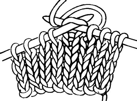 knitting drawing the knit stitch learn to knit