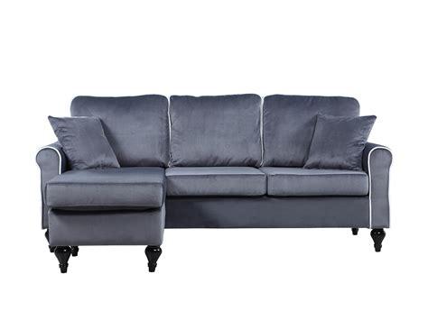 grey velvet sectional sofa traditional small space grey velvet sectional sofa with