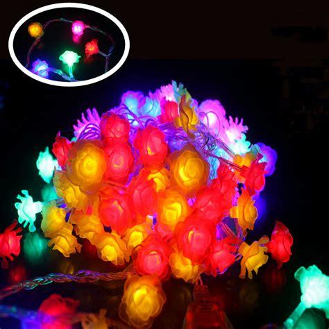 led flower string lights 10m led string lights 100 colorful led flower