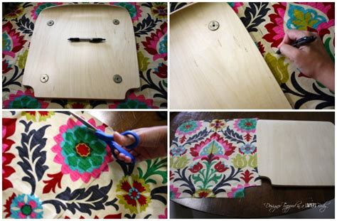 how to decoupage fabric on wood hometalk quot upholster quot a wood chair with fabric and mod podge