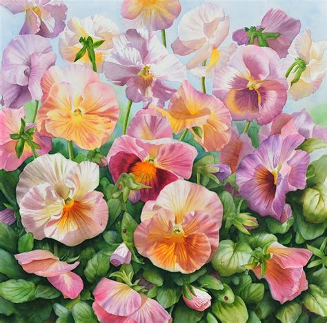 flower painting pictures commissions of and flower paintings