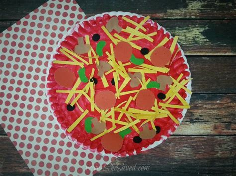 Paper Plate Pizza Craft Idea Shesaved 174