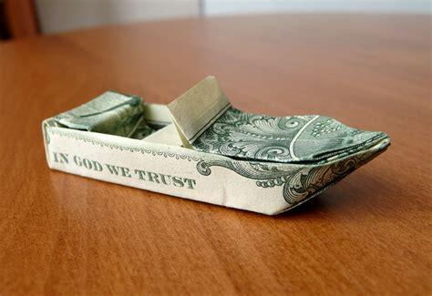 dollar origami boat dollar origami ski boat v3 by craigfoldsfives on deviantart