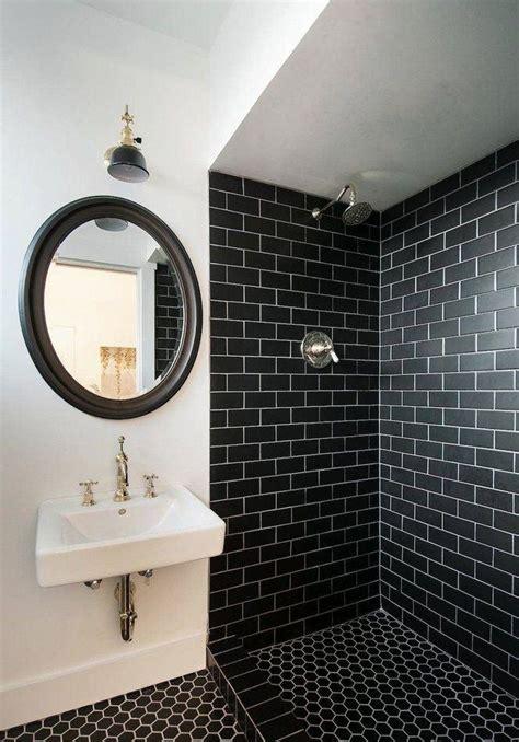 Subway Tile Designs For Bathrooms 60 banheiros preto e branco decorados fotos lindas