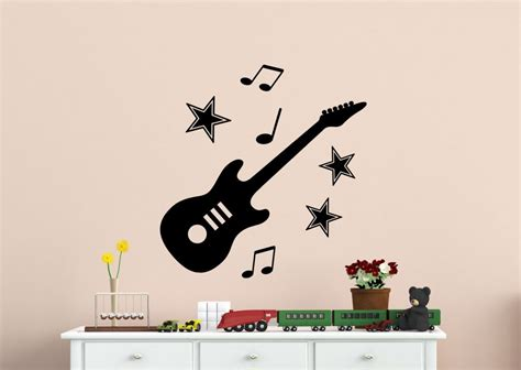 guitar wall stickers wall designs guitar wall express wall stickers