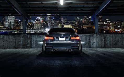 Hd Black Car Wallpaper For Laptop by Bmw M3 F80 Matte Black Car Rear View City 4k Laptop