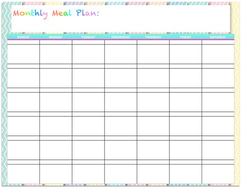 image gallery monthly menu template