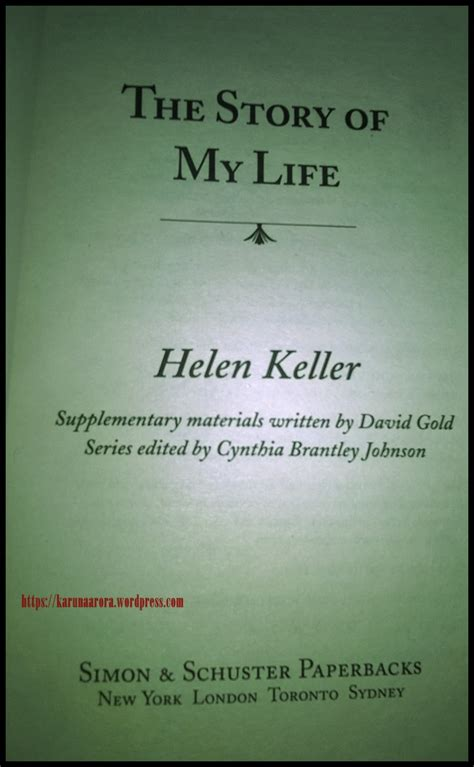 helen s book review not book review the story of my by helen keller