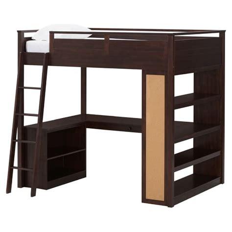study loft bunk bed sleep study 174 loft pbteen