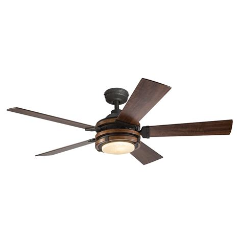 ceiling fans with up and lighting shop kichler barrington 52 in distressed black and wood