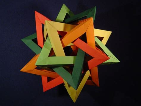 origami tetrahedron modular origami spiky balls and stellated polyhedra