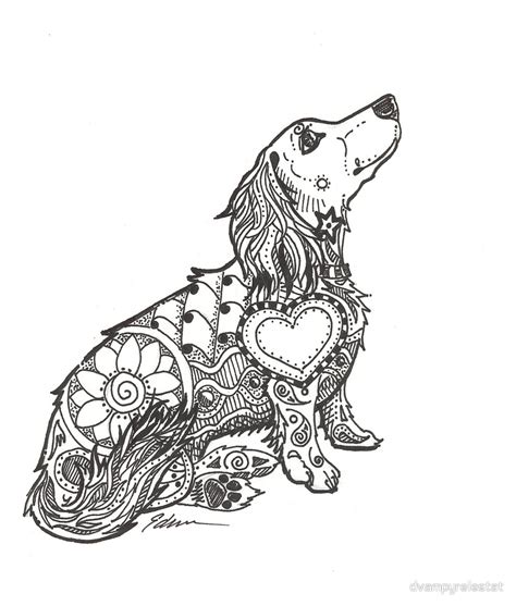 quot dachshund lovers doxie zentangle quot by dvampyrelestat