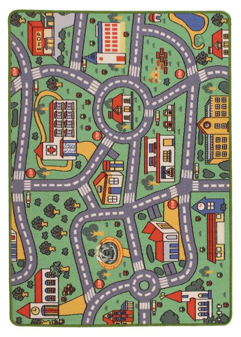 play rug with roads roads playmat rug rugspot