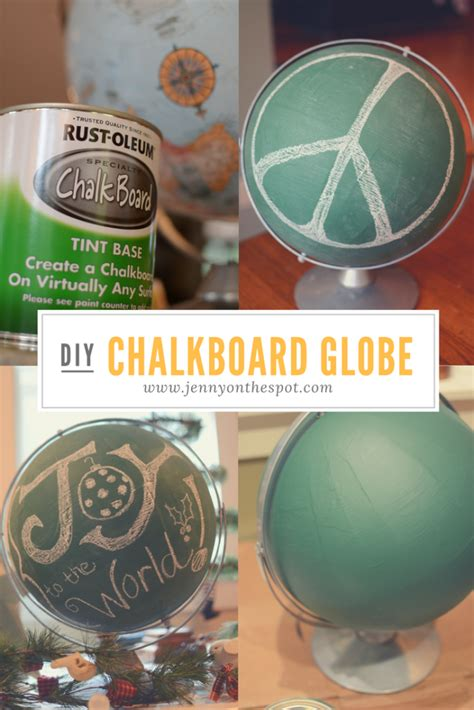 chalkboard globe diy 20 creative ways to use chalkboard paint on the