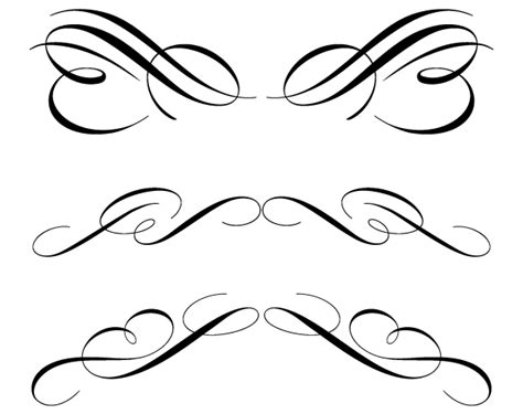 free ornament clipart free calligraphic ornament clip 123freevectors