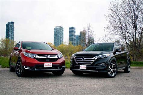Mazda Cx 5 Compared To Honda Crv by 2017 Honda Cr V Vs Hyundai Tucson Comparison Autoguide