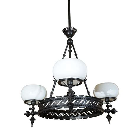 gas chandelier wrought iron gas chandelier at 1stdibs