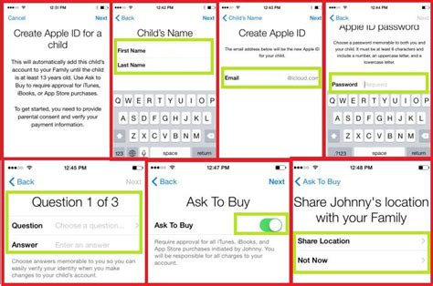 make iphone id without credit card how to create apple id for your child on and iphone