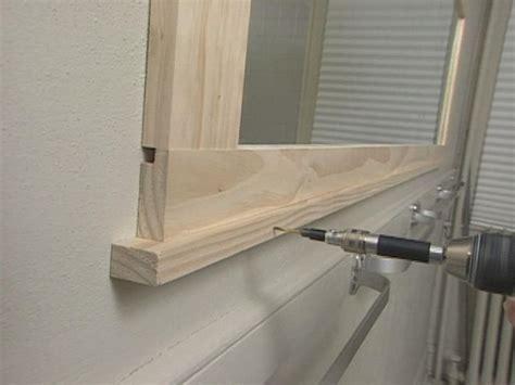 do it yourself framing a bathroom mirror how to frame a bathroom mirror how tos diy