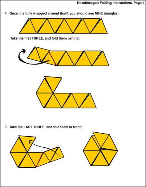hexaflexagon origami custom hexaflexagon folding 4 keuzetaak