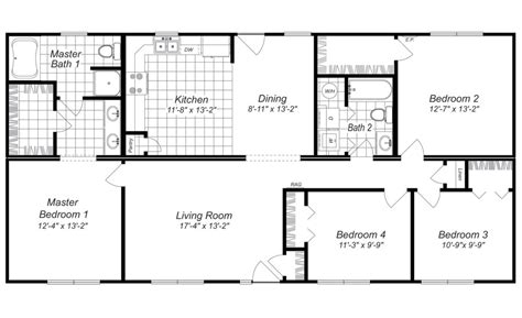 simple home plans free house plans with 4 bedrooms marceladick