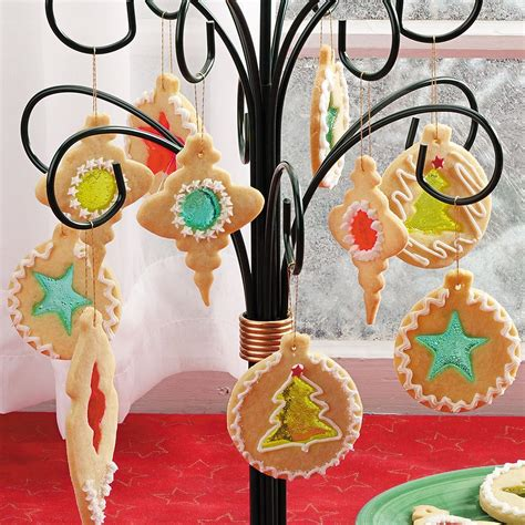 stained glass decorations stained glass cookie ornaments recipe taste of home