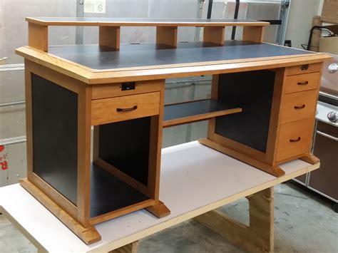 woodworking computer desk woodworker s journal free plans