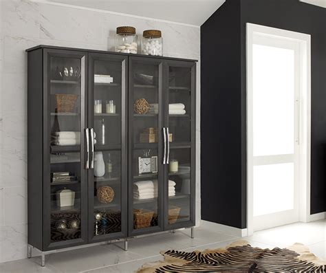storage cabinets glass doors cherry kitchen with glass cabinet doors decora
