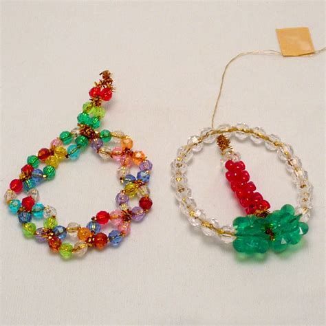 pipe cleaner bead ornaments 12 ornaments lesson this